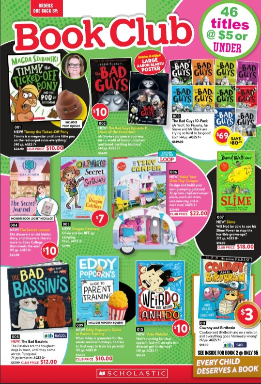Scholastic Book Club - order now