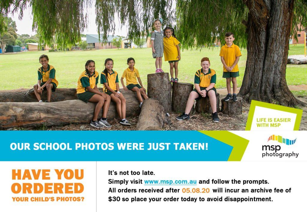 School Photos - payment due 5 August